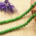 Beads, Glass, Green , Round shape, Diameter 8mm, 10 Beads, [BHB0167]